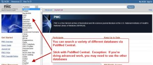 Accessing PubMed (PMC)