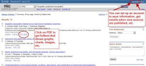 Searching PubMed (PMC)