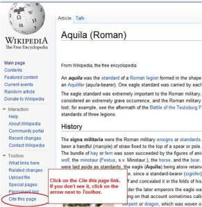 Using the Wikipedia cite feature.