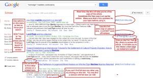 Using Google Scholar.