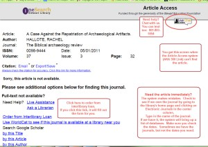 This is what the article access page looks like if it does NOT find a link.