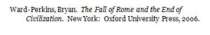 Example of a book citation in Chicago/Turabian bibliography/humanitie style.